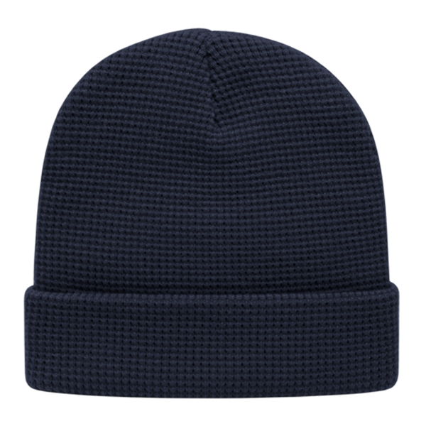 Cap America iK70 In Stock Waffle Knit Beanie with Cuff - Navy