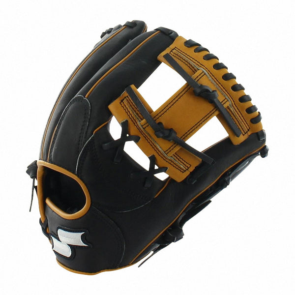 "SSK Professional Edge 11.50"" S150BC115 Infield Glove - Black Tan - Baseball Gloves - Hit A Double - 1"