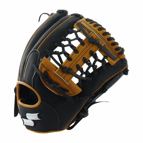 "SSK Professional Edge 11.75"" S150BC1175 Inf Pitcher Glove - Black Tan - Baseball Gloves - Hit A Double - 1"