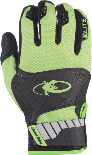 Lizard Skins Komodo Elite Adult Batting Gloves - Black Lime - Batting Gloves - Hit A Double