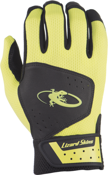 Lizard Skins Komodo Adult Batting Gloves - Black Neon - Batting Gloves - Hit A Double