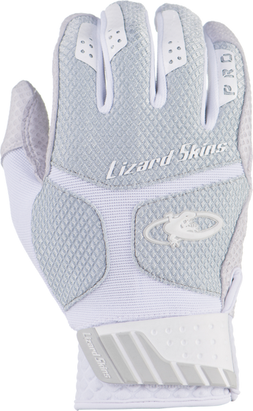 Lizard Skins Komodo Pro Adult Batting Gloves - Titatium - Batting Gloves - Hit A Double