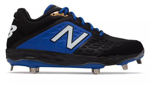 New Balance 3000v4 Fresh Foam Metal Cleats Low Cut - Black Blue