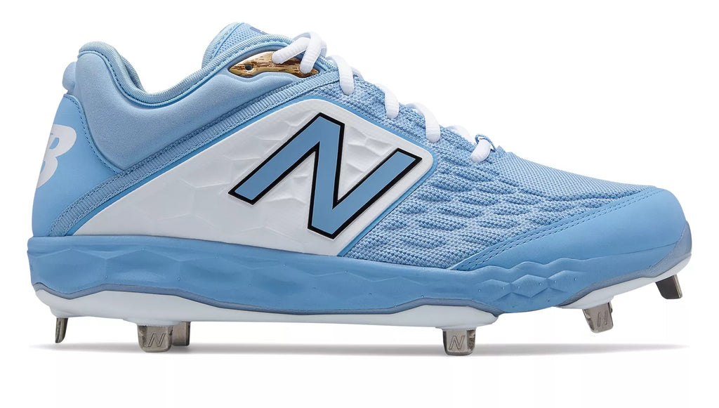 80bed349a285c New Balance 3000v4 Fresh Foam Metal Cleats Low Cut - Baby Blue White ...