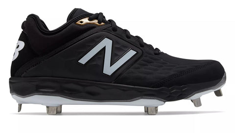 New Balance 3000v4 Fresh Foam Metal Cleats Low Cut - Black