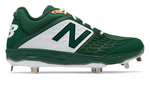 New Balance 3000v4 Fresh Foam Metal Cleats Low Cut - Green White