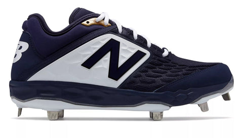 New Balance 3000v4 Fresh Foam Metal Cleats Low Cut - Navy White