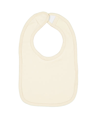 Rabbit Skins 1005 Infant Premium Jersey Bib - Natural