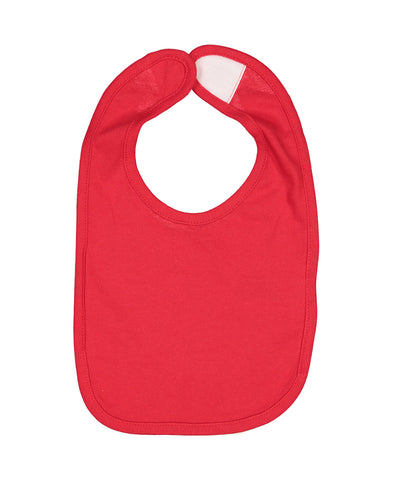 Rabbit Skins 1005 Infant Premium Jersey Bib - Red - HIT A Double