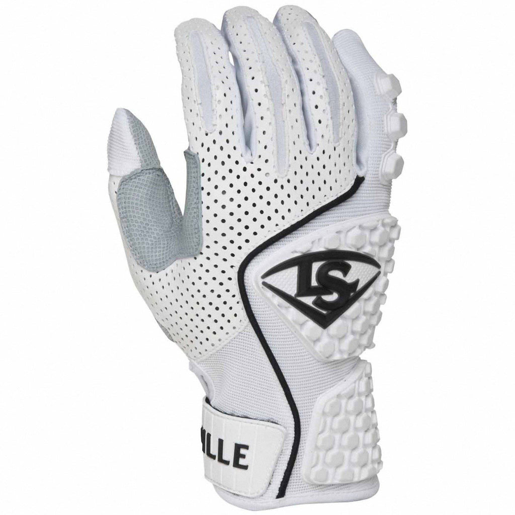 Louisville Slugger Advanced Design Batting Gloves - White - HIT A Double