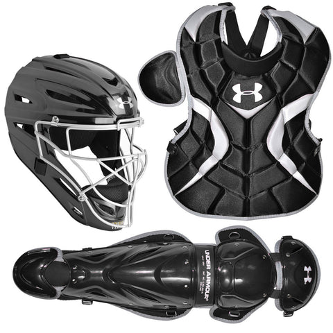 Under Armour PTH Victory Series UACK-YVS Youth 7-9 Yr Catcher's Kit - Black - Catcher's Gear - Hit A Double - 1