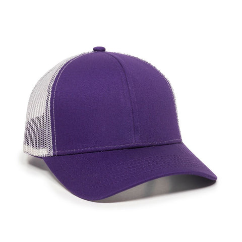 OC Sports MBW-600 Team Adjustable Mesh Back Ball Cap - Purple White