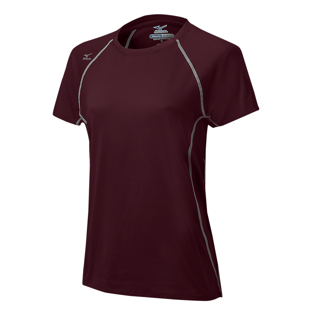 Mizuno Balboa 3.0 Girl's Short Sleeve Jersey - cardinal, Gray - HIT A Double