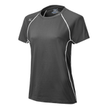 Mizuno Balboa 3.0 Girl's Short Sleeve Jersey - Charcoal White - HIT A Double
