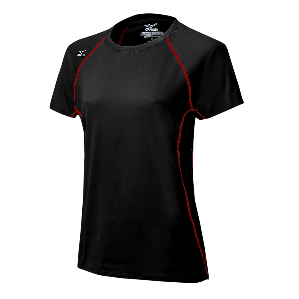 Mizuno Balboa 3.0 Short Sleeve Jersey - Black Red