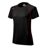 Mizuno Balboa 3.0 Short Sleeve Jersey - Black Red - HIT A Double