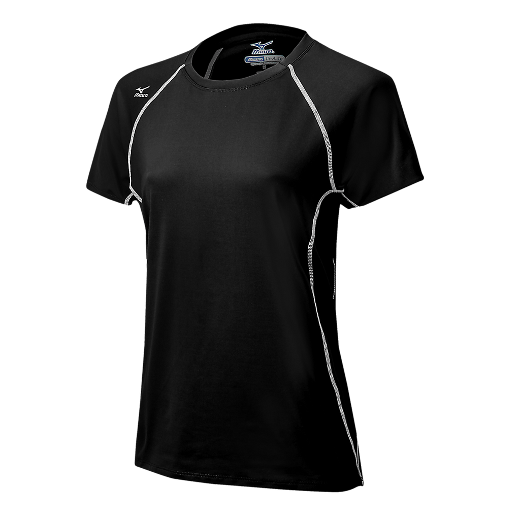 Mizuno Balboa 3.0 Short Sleeve Jersey - Black White - HIT A Double