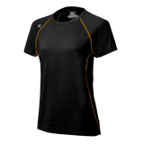 Mizuno Balboa 3.0 Short Sleeve Jersey - Black Yellow - HIT A Double