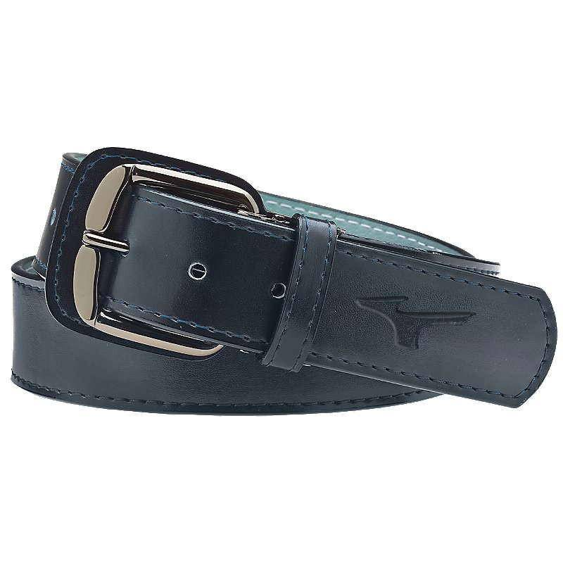 Mizuno Classic Leather Belt - Navy - HIT A Double
