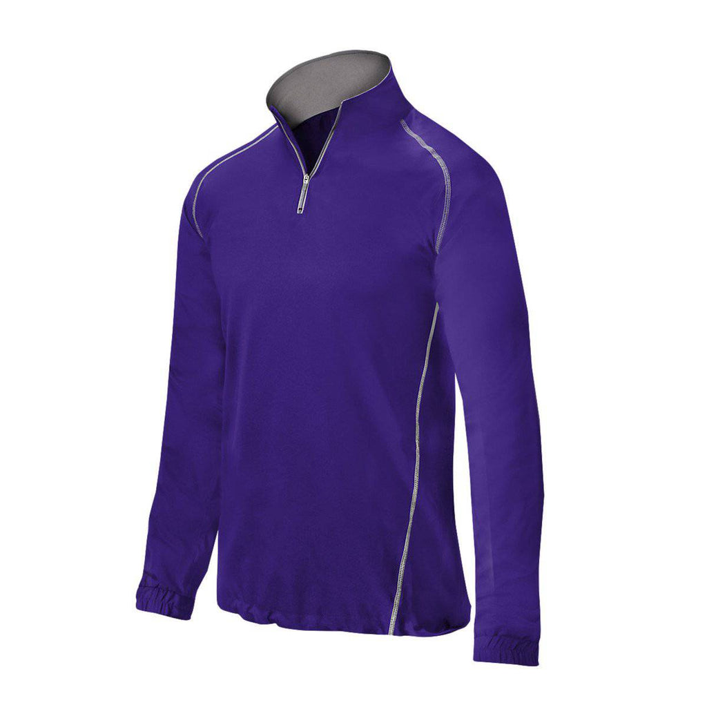 Mizuno Comp 1/2 Zip Batting Jacket - Purple - HIT A Double