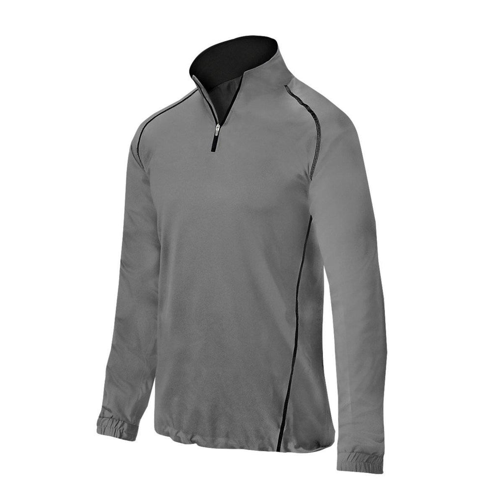 Mizuno Comp 1/2 Zip Youth Batting Jacket - Grey - HIT A Double