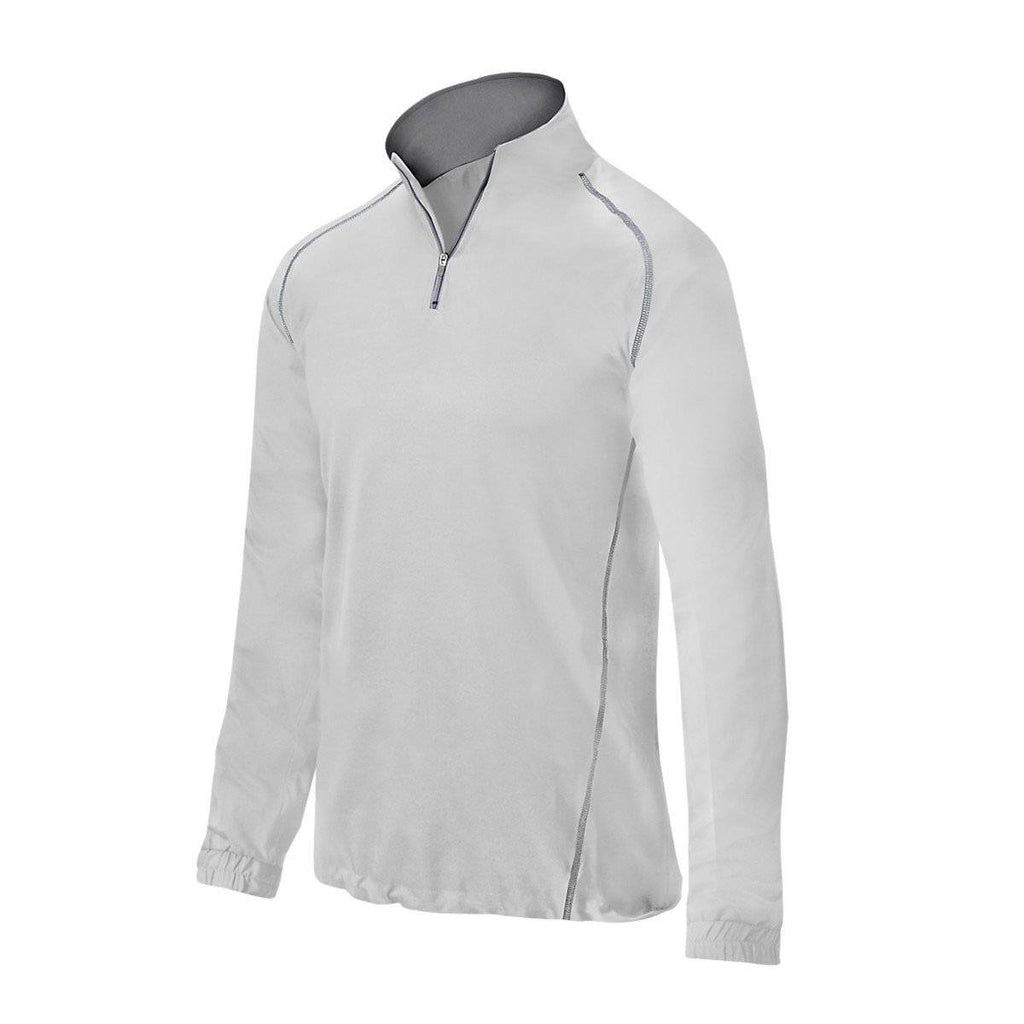 Mizuno Comp 1/2 Zip Youth Batting Jacket - White - HIT A Double