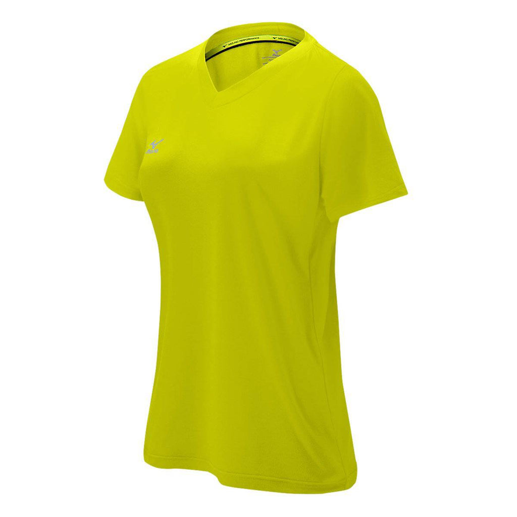 Mizuno Core Girl's Attack Tee - Lemon - HIT A Double