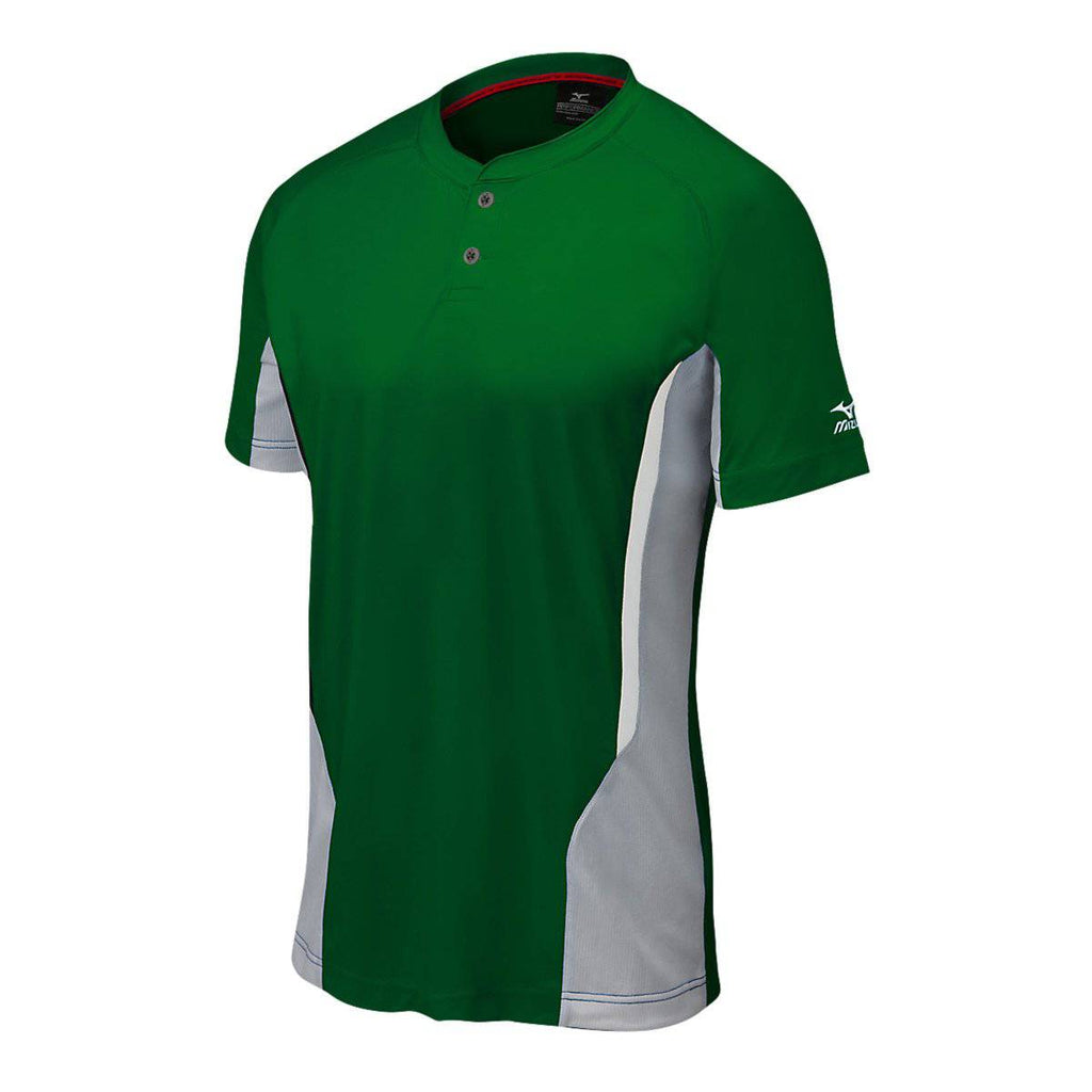 Mizuno Elite 2-button Jersey - Forest Gray