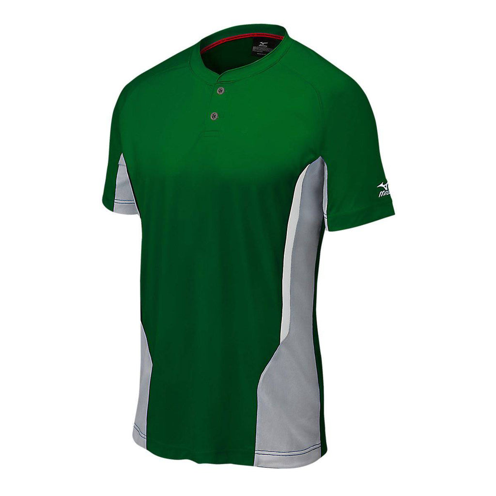 Mizuno Elite 2-Button Youth Jersey - Forest Gray - HIT A Double