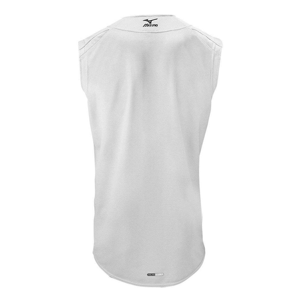 Mizuno Elite Mesh Game Jersey Sleeveless - White - HIT A Double