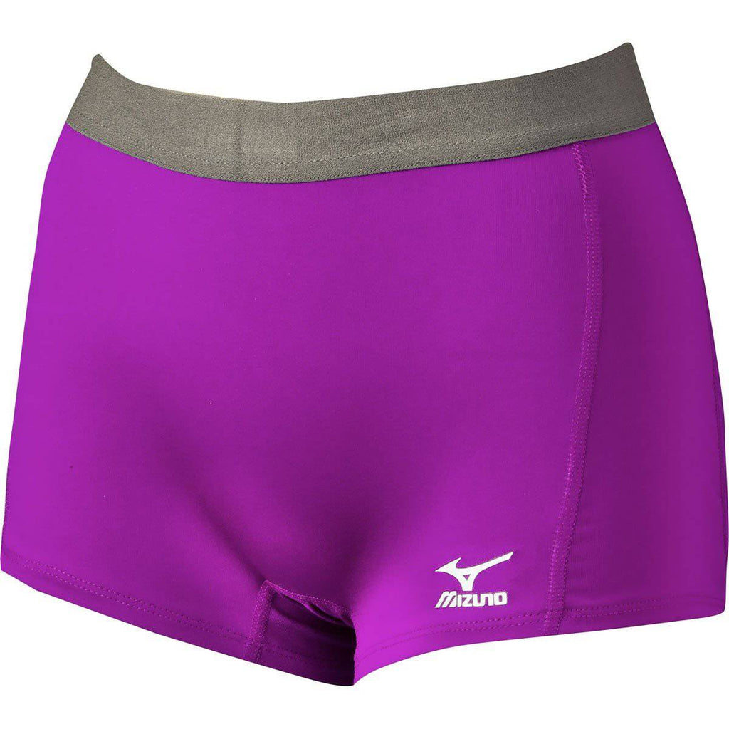 Mizuno Flat Front Spandex Short G2 Electric Purple - HIT A Double