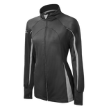 Mizuno Nine Collection: Focus Girl's Full Zip Jacket - Charcoal Gray - HIT A Double