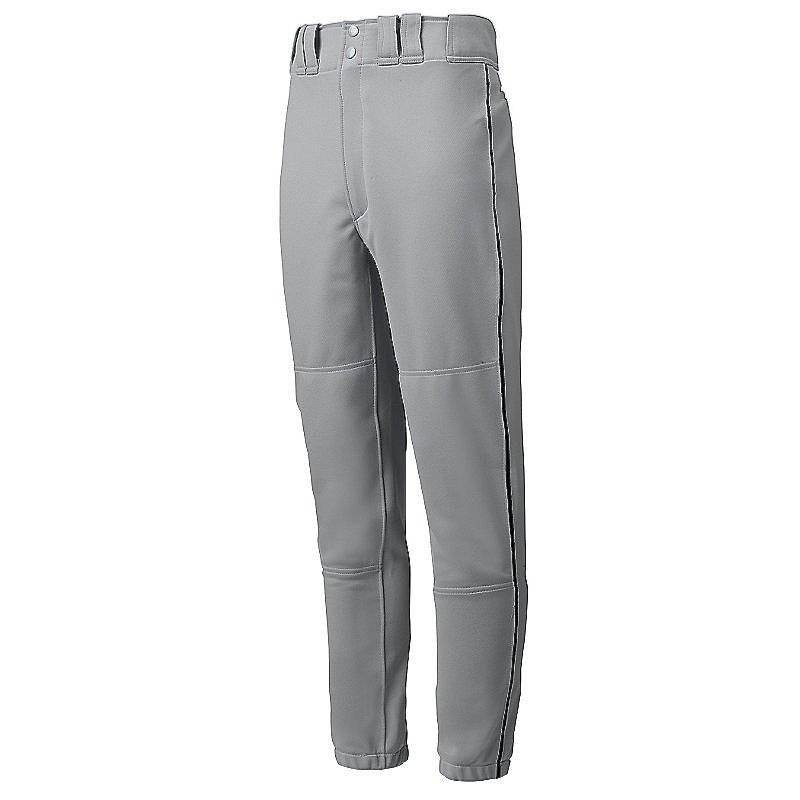 Mizuno Premier Piped Pant - Gray-Black - HIT A Double