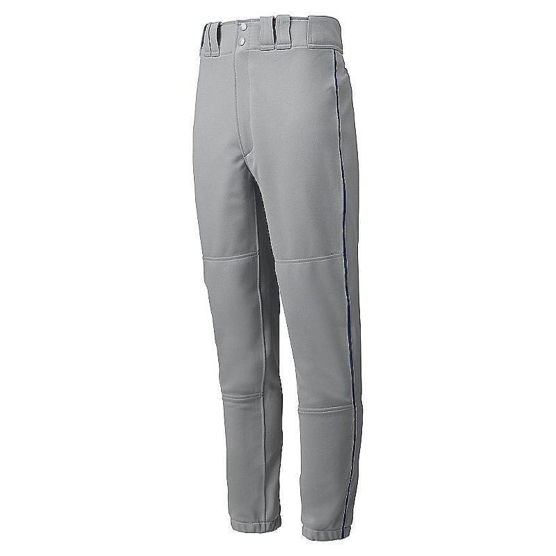 Mizuno Premier Piped Pant - Gray-Navy - HIT A Double