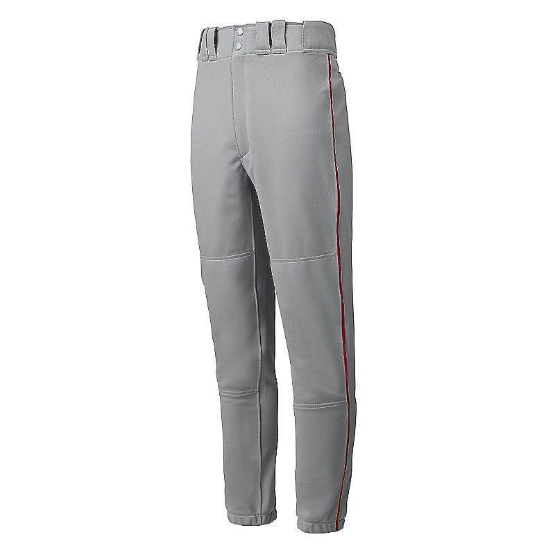 Mizuno Premier Piped Pant - Gray-Red - HIT A Double