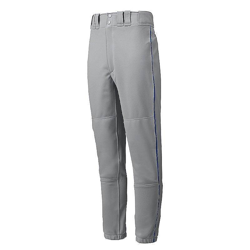 Mizuno Premier Piped Pant - Gray-Royal