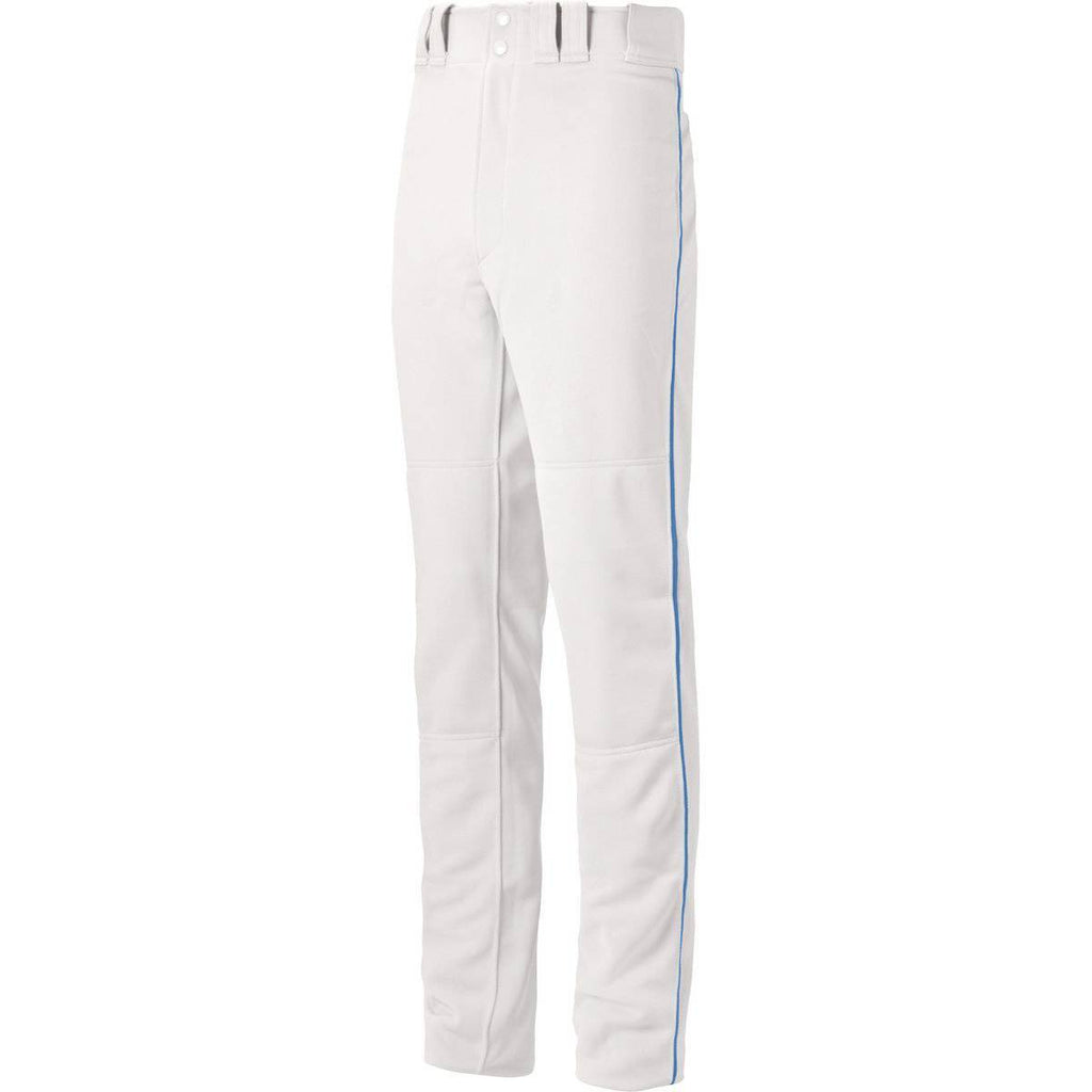 Mizuno Premier Pro Piped Adult Baseball Pants - White Royal - HIT A Double
