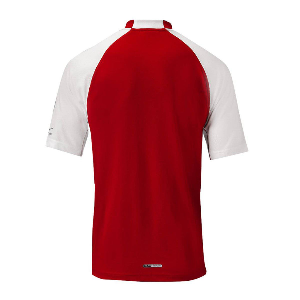 Mizuno Pro 2-Button Jersey - Red White - HIT A Double