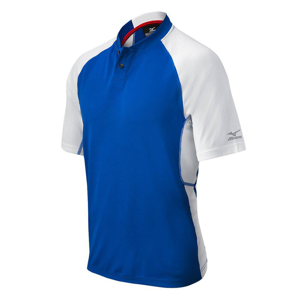 Mizuno Pro 2-Button Jersey - Royal White