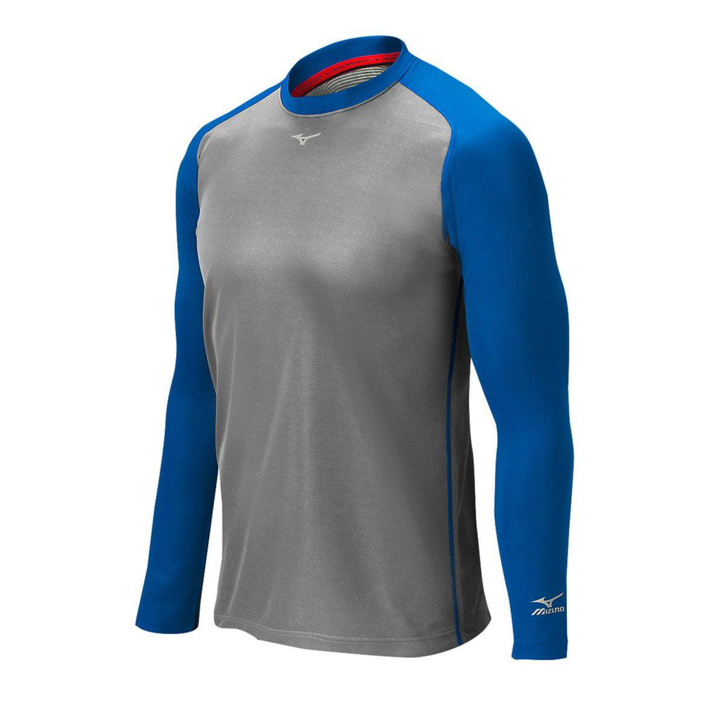 Mizuno Pro Breath Thermo Training Top - Gray Royal - HIT A Double