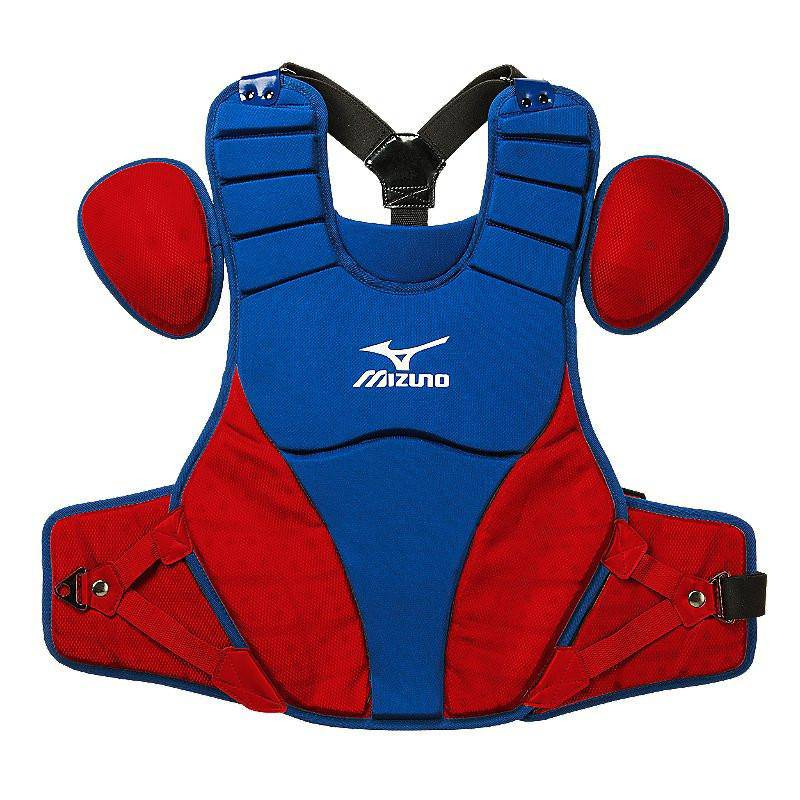 "Mizuno Samurai 16"" Chest Protector Adult - Royal Red - HIT A Double"