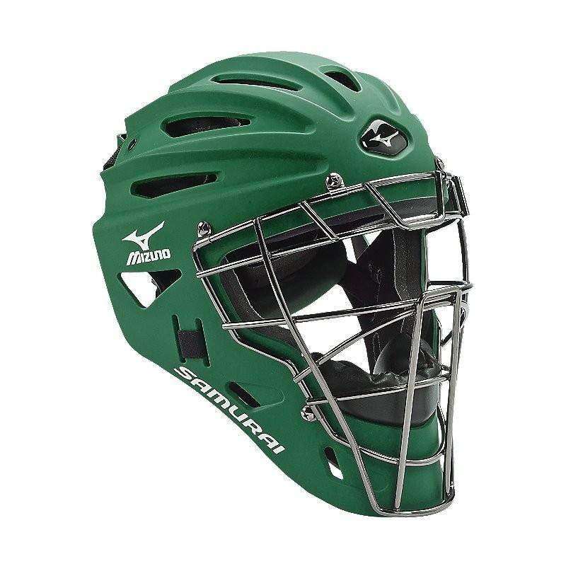 Mizuno Samurai Youth Catcher's Helmet G4 forest, Green - 380192