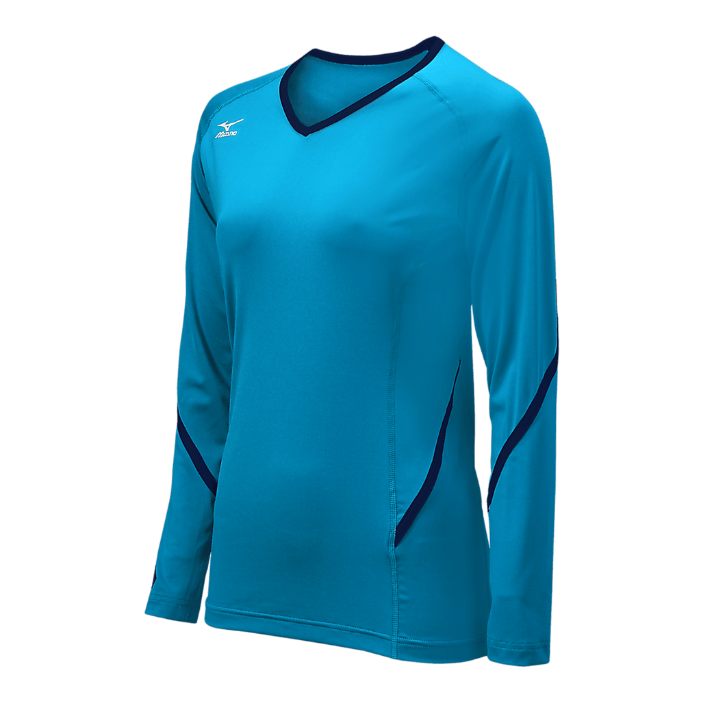 Mizuno Techno Generation Girl's Long Sleeve - Columbian Navy - HIT A Double