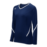 Mizuno Techno Generation Girl's Long Sleeve - Navy White - HIT A Double