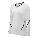 Mizuno Techno Generation Girl's Long Sleeve - White Black - HIT A Double