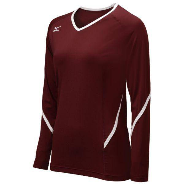 Mizuno Techno Generation Long Sleeve cardinal, White