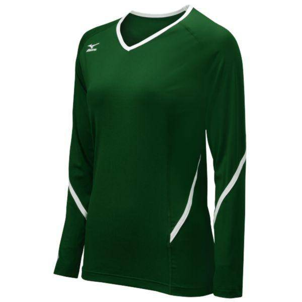 Mizuno Techno Generation Long Sleeve forest, White - HIT A Double