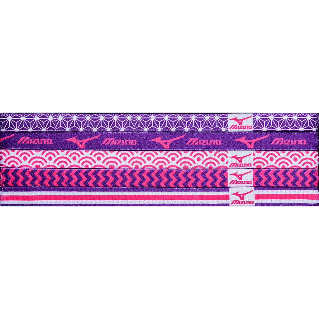 Mizuno Triumph Headbands - Shocking Pink Electric Purple - HIT A Double