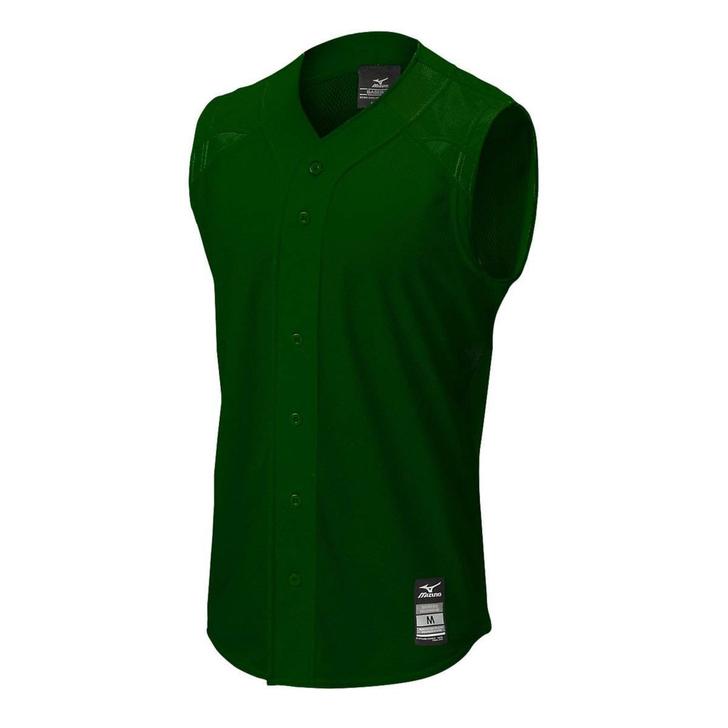 Mizuno Youth Elite Mesh Game Jersey Sleevless - Forest