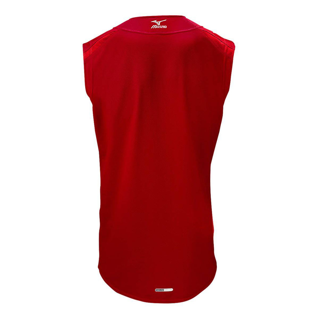 Mizuno Youth Elite Mesh Game Jersey Sleevless - Red - HIT A Double